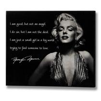 Marilyn Monroe Mensaje Placa - Una Cotización Pequeña Much