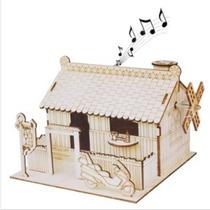 Casa De Madera De La Música Estilo De La Caja En La Artesaní