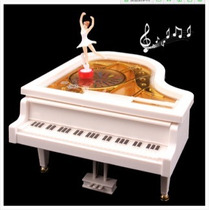 Romântica Caixa De Música Em Forma De Piano De Com Bailarina