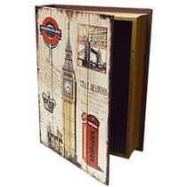 Caja Portalibros Estampado Londres De 35x26x4cm
