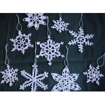 Copo De Nieve Tejidos Adorno Para Navidad O Frozen