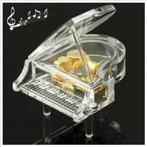 Forma De Piano De Cristal Caja De Música