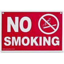 Advantus No Smoking Regístrate 12 X 8 Pulgadas Rojo / Blanco