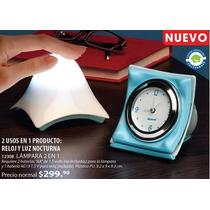 Betterware Reloj Y Lampara Nocturna Recamara Sala Lectura