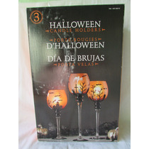 Set De 3 Copas Porta Velas Para Hollowen
