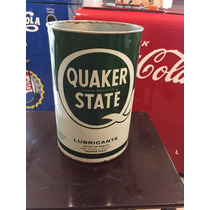 Lata De Aceite Antigua Quaker State Grande Mexicana