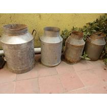 Botes Lecheros Cantaros Bote Leche (antiguo,vintage, Retro )