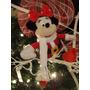 Mickey Mouse Mimi Santa Peluche Adorno Colgante Navideño