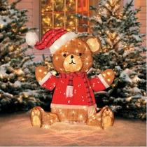 Adornos Navidad Exterior Gigantes Iluminados Teddy Bear