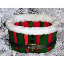 Canasta Navidad Santa Cinturón Cesto Regalo Dulces 2 Modelos