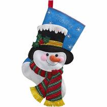 Bucilla Original. Bota Navideña Jack Frost. Navidad