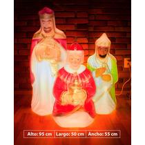 Reyes Magos De Navidad Con Luz Interior