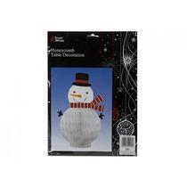 Decoración De Navidad - Muñeco De Nieve De La Tabla Honeyc