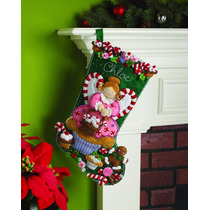 Bucilla Original. Bota Navideña Cupcake Angel. Navidad