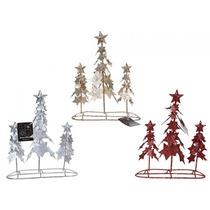 Adornos De Navidad - Conjunto De 3 De Plata Rojo Y Oro Tripl