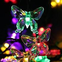 Ledertek Solar Luces De Navidad (40 Led De Color Multi) 24.6