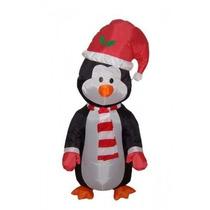 Pingüino Navideño Adorno Inflable Para Navidad Pm0