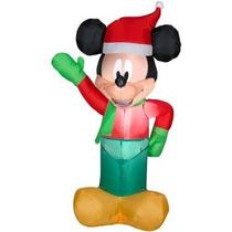 Adorno Inflable Para Navidad Mickey Mouse Iluminacion Pm0