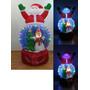 Inflable Arbol Navidad Esfera Nieve Navideño Luz Led Santa