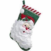 Bucilla Original. Bota Navideña Jolly Saint Nick. Navidad