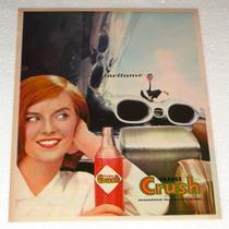 Antiguo Y Raro Anuncio Publicidad De Refrescos Orange Crush