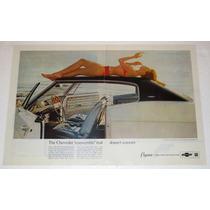 Antiguo Anuncio Publicidad De Autos Chevrolet Caprice´66