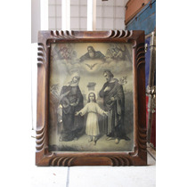 Cuadro Antiguo Sagrada Familia