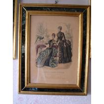 3 Estampas Revista La Moda Elegante (1880 Aprox)
