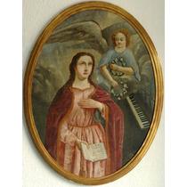 Y Martinez Oleo Santa Cecilia Patrona De La Musica 1877