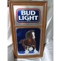 Cartel De Lamina Enmarcado De Cerveza Budlight