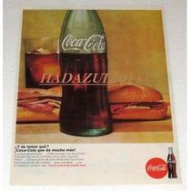 Antiguo Y Raro Anuncio Publicidad De Refrescos Coca-cola