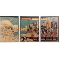 Ando Utagawa Hiroshige Grabado Ukiyo-e Jardin Embrujado 1840