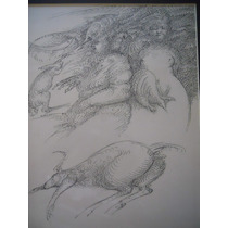 Daniel Kent Dibujo Tinta Sobre Papel.