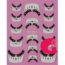 Sticker Uñas Frances 3d Set 4sobre Xf802,xf860,xf804,xf862