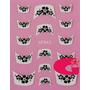 Sticker Uñas Frances 3d Set 4sobre Xf843,xf847,xf842,xf856
