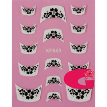 Sticker Uñas Frances 3d Set 4sobre Xf843,xf847,xf842,xf856