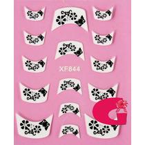 Sticker Uñas Frances 3d Set 4sobre Xf844,xf872,xf848,xf820