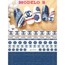 Calcamonias Stickers Decoracion Uñas Efecto Mezclilla Dama