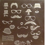 Placas Estampado Uñas Sello Moustache Bigote Tipo Konad # G1