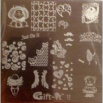 Placas Estampado Uñas Mafalda Sello Mafalda Tipo Konad # G15