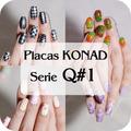 10 Placas Konad Tamaño Xxxl Serie Q#1 Decoracion Uñas Disco