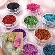 Decoración De Uñas Caviar Balines Set 12 Colores Mn4