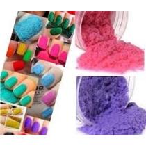 Decoración Uñas Peluche Terciopelo Velvet Set 12 Colores Mn4