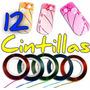 12 Cintillas Decoracion Para Uñas Acrilico Gel Dual System