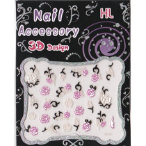 Set De Stickers Para Uñas, Nails Stickers, Nail Arts, Vbf