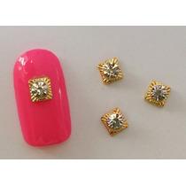 10 Pz Decoracion Uñas Gelish Dijes Bisuteria Cuadro Diamante