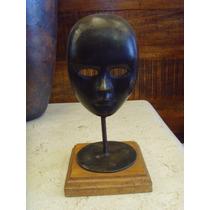 Antigua Mascara Decorativa De Bronce. Unica. Envio Gratis