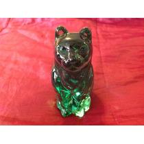 Hermoso Gato De Vidrio Verde