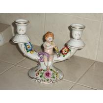 Candelabro Angel Antiguo Porcelana Alemana De Von Schierholz
