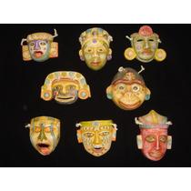 Máscaras Prehispánica Mini - Réplica Terracota Policromada 2